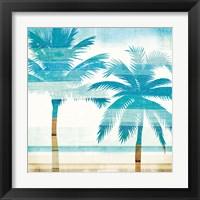 Framed Beachscape Palms III