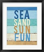 Framed Beachscape Inspiration VIII