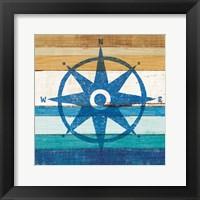 Framed Beachscape IV Compass