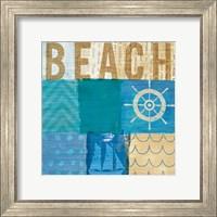 Framed Beachscape Collage IV
