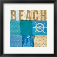 Beachscape Collage IV Framed Print