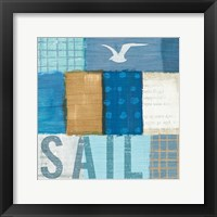 Beachscape Collage V Framed Print