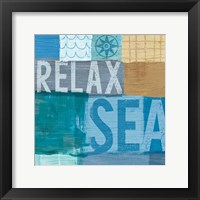 Beachscape Collage III Framed Print