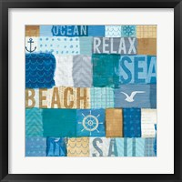 Framed Beachscape Collage I