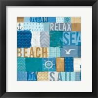 Beachscape Collage I Framed Print