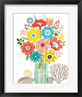 Seaside Bouquet IV Mason Jar Framed Print