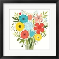 Framed Seaside Bouquet I
