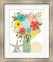Framed Seaside Bouquet I Mason Jar