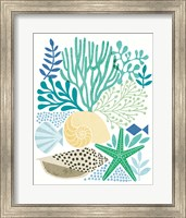Framed Under Sea Treasures V Sea Glass