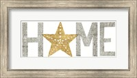 Framed Under Sea Treasures Home Gold Neutral