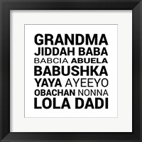 Framed Grandma Various languages