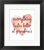 Framed Everything Tastes Better at Grandma's - White