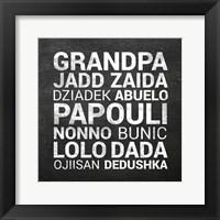 Framed Grandpa Various Languages - Chalkboard