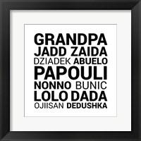 Framed Grandpa Various Languages