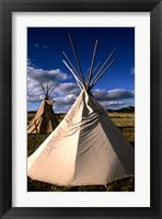 Framed Sioux Teepee at Sunset, Prairie near Mount Rushmore, South Dakota