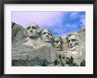 Framed View of Mount Rushmore National Monument Presidential Faces, South Dakota