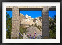 Framed Entrance to Mount Rushmore National Memorial, South Dakota