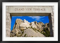 Framed Grand View Terrace, Mount Rushmore
