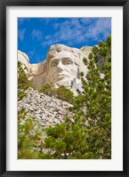Framed Abraham Lincoln, Mount Rushmore, South Dakota