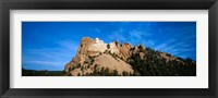 Framed Mt Rushmore National Monument and Black Hills, Keystone, South Dakota