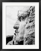 Framed Construction of George Washington's face on Mount Rushmore, 1932