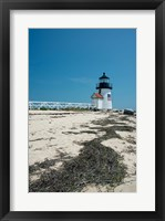 Framed Nantucket Brant Point lighthouse, Massachusetts