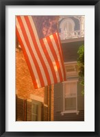 Framed Massachusetts, Nantucket Island, US flag
