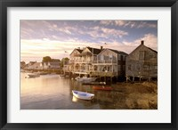 Framed Massachusetts, Nantucket Island, Old North Wharf