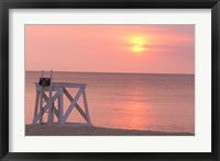 Framed Massachusetts, Nantucket, Jetties Beach Lifeguard