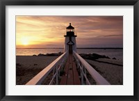Framed Brant Point Lighthouse, Nantucket, Massachusetts
