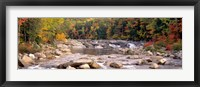 Framed New Hampshire, White Mountains National Forest, River flowing through the wilderness