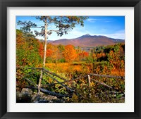 Framed Autumn landscape of Mount Chocorua, New England, New Hampshire