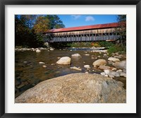 Framed Albany Covered Bridge, White Mountain National Forest, New Hampshire