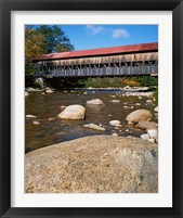 Framed Albany Covered Bridge, Swift River, White Mountain National Forest, New Hampshire