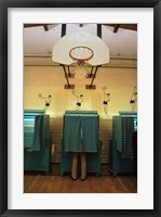 Framed Politics, Democracy, Voting booth, New Hampshire, 1988