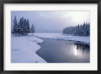 Framed Snow on the Shores of Second Connecticut Lake, Northern Forest, New Hampshire