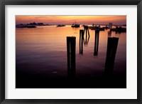 Framed Sunrise on Boats, New Hampshire