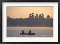 Framed Canoeing on Umbagog Lake, Northern Forest, New Hampshire