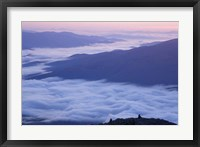 Framed Fog in the Valleys Below Mt Madison, White Mountains, New Hampshire