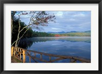 Framed Fall Reflections in Chocorua Lake, White Mountains, New Hampshire