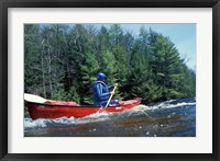 Framed Paddling on the Suncook River, Tributary to the Merrimack River, New Hampshire