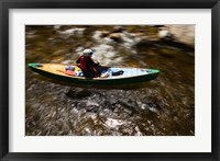 Framed Canoeing the Ashuelot River in Surry, New Hampshire