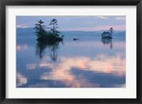 Framed Dawn on Lake Winnepesauke, Moultonboro Neck, Moultonboro, New Hampshire