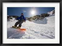 Framed Snowboarder in Tuckerman Ravine, White Mountains National Forest, New Hampshire