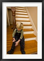 Framed Child, winter in Portsmouth, New Hampshire