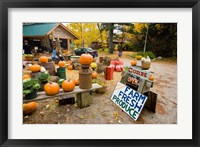 Framed Farm stand, Holderness, New Hampshire
