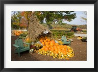 Framed Moulton Farm farmstand in Meredith, New Hampshire