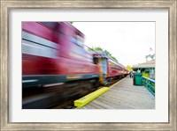 Framed Scenic railroad, Laconia, New Hampshire