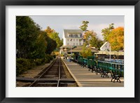 Framed Scenic railroad at Weirs Beach, New Hampshire