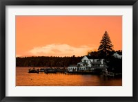 Framed Sunset in Wolfeboro, New Hampshire